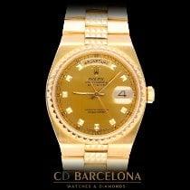 Rolex Day-Date Oysterquartz Желтое золото 36mm Черный