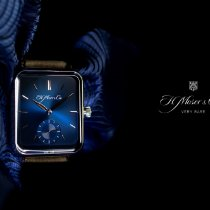 H.Moser & Cie. Henry Double Hairspring Oro blanco 38.2mm Azul Sin cifras