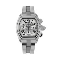 Cartier Roadster Steel 43mm Silver Roman numerals