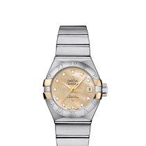 Omega 12320272057003 Constellation 27mm Diamonds Gold Ladies