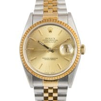 Rolex Datejust Steel & Gold with Champagne Dial, 16233,...
