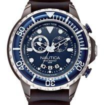 Nautica Chronograph 50mm Quarz neu Blau