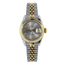 Rolex Datejust 26mm Steel and 18K Yellow Gold Grey Roman 79173