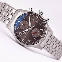 IWC Pilot Spitfire Chronograph Ardoise Dial Steel Bracelet