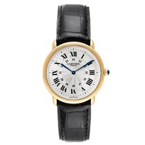 Cartier Ronde Louis Cartier Yellow gold 33mm Silver Roman numerals