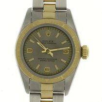 Rolex Ladies Oyster Perpetual 67243 24MM Zephyr Bezel Stick...
