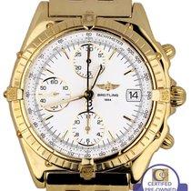 브라이틀링 Men's Breitling Chronomat Chronograph 18K Yellow Gold...