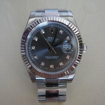 Rolex Datejust II 41mm Rhodium Diamond dial - Bitcoin accepted