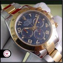 Rolex Daytona Cosmograph Blue Dial Steel & Gold FULL SET