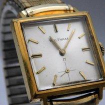 Waltham 10K Gold Filled Square Case Vintage Mens Pre-Owned...
