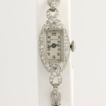 Hamilton Art Deco Diamond Women's Watch - Platinum Vintage...