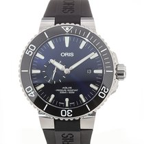Oris Aquis Small Second Steel 45.5mm Blue
