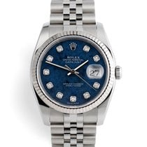 Rolex Datejust Oro/Acciaio 36mm Blu