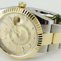 Rolex Sky-Dweller Gold/Steel 42mm Champagne No numerals United States of America, Illinois, Lincolnshire