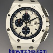 愛彼 Royal Oak Offshore Chronograph 陶瓷 44mm 白色 無數字