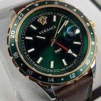 Versace Stål 42mm Kvarts Versace Hellenyium GMT V1109 0017 ny