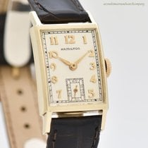 Hamilton Yellow gold 20mm Manual winding pre-owned