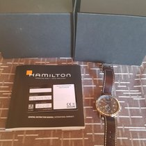 Hamilton Khaki Navy Pioneer pre-owned Silver Date Leather
