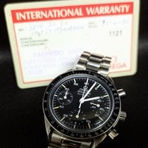 Omega Speedmaster Reduced Steel Black No numerals