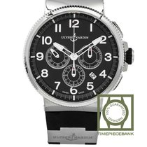 Ulysse Nardin Marine Chronograph Acier 43mm Noir Arabes