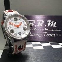 ビー・アール・エム ステンレス 38mm 自動巻き B.R.M Automatic Chronographen V7 Damen Uhr Weiss Orange 新品