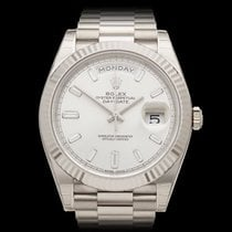 Rolex Day-Date 40 Diamond Dial 18k White Gold Gents 228239 -...