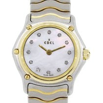 Ebel Sport Classic Two Tone MOP Diamond Dial Ladies Watch