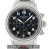 Blancpain Leman  Flyback Chronograph Stainless Steel Black Dial