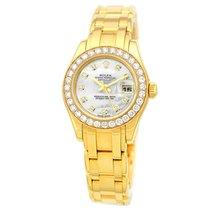 Rolex 18K Yellow Gold Pearlmaster Masterpiece Factory Diamonds...
