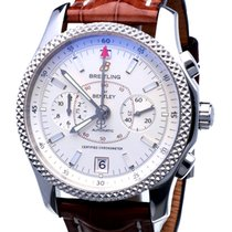 Breitling Bentley Mark VI tweedehands 42mm Champagne Chronograaf Datum Tachymeter Krokodillenleer