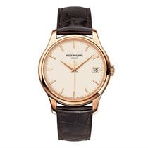 Patek Philippe Calatrava 18K Rose Gold Watch Ivory Dial
