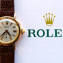 Rolex Rose gold Manual winding Silver No numerals 23mm pre-owned Oyster Precision