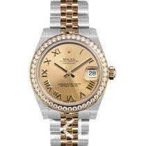 Rolex Lady-Datejust nuevo Automático Reloj con estuche y documentos originales 178383 Gold