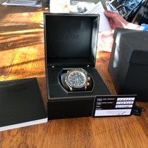 Edox Chronograph 45,00mm Quarz 2018 gebraucht Schwarz