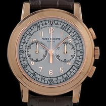 Patek Philippe Chronograph Rose gold 42mm Silver Arabic numerals United States of America, New York, New York