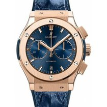 Hublot Red gold Automatic new Classic Fusion Blue