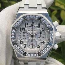 Audemars Piguet Royal Oak Offshore Lady Stahl 37mm Silber Arabisch