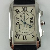Cartier Tank Americaine Chronoreflex white gold