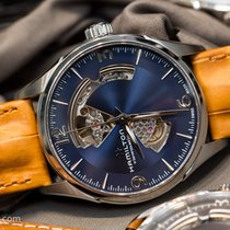 Hamilton JAZZMASTER OPEN HEART AUTO Blue Dial Brown Leather 42mm