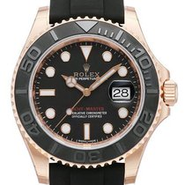 Rolex Rose gold Automatic Black No numerals 40mm new Yacht-Master