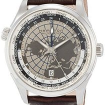 Hamilton Jazzmaster Leather Strap GMT Auto Mens Watch H32605581