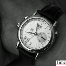 Ulysse Nardin GMT +/- Perpetual White gold 38mm Silver
