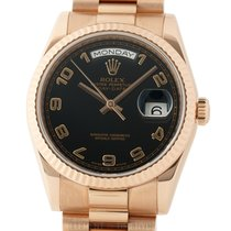 Rolex Rose gold Automatic Black Arabic numerals 36mm pre-owned Day-Date 36