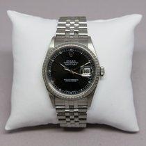 Rolex 36mm Automatik 1980 gebraucht Datejust (Submodel) Silber