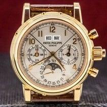 Patek Philippe Perpetual Calendar Chronograph Rose gold 37mm Silver Arabic numerals