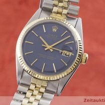 Rolex Datejust Zlato/Zeljezo 36mm Plav-modar