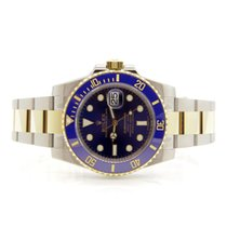 Rolex 116613 LB NEW Two Tone Ceramic Bezel Submariner Blue Dial