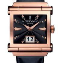 De Grisogono Instrumento Grande NO7 18K Rose Gold Men's Watch