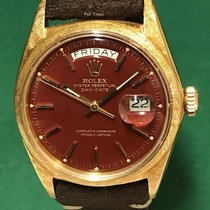 Rolex Oyster Perpetual Day-Date 18K YG with Ox-Blood Stella Dial