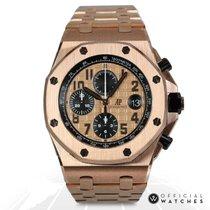 Audemars Piguet Royal Oak Offshore Chronograph Ροζέ χρυσό 42mm Χρυσό Αραβικοί
